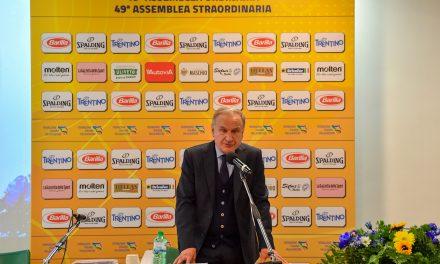 Gianni Petrucci, rieletto presidente della Federazione Italiana Pallacanestro