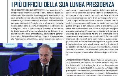 EDITORIALE – Petrucci al vertice altri quattro anni, i più difficili della sua lunga presidenza