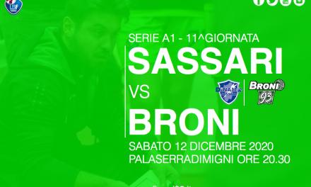 """Broni, Fontana: """"Contro Sassari mi aspetto una reazione d'orgoglio"""""""