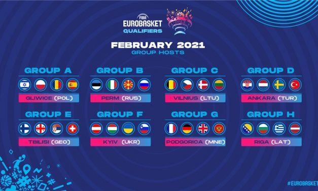 FIBA, finestre di febbraio – Azzurri a Perm in Russia, ancora da decidere la sede femminile