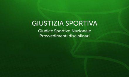 Serie A2: nel girone verde squalificato per 1 giornata Poggi di Piacenza, nel rosso ammenda di 600 euro per Scafati