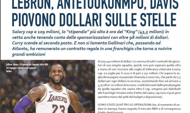 Piovono… dollari! Continuano ad aumentare gli stipendi NBA