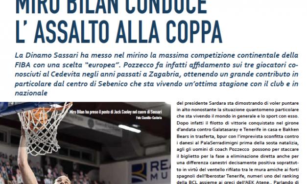 Miro Bilan, protagonista in campo e nelle pagine di Basket Magazine