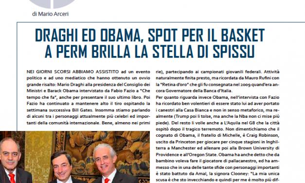 L'editoriale – Mario Draghi e Barack Obama, due grandi spot per la pallacanestro