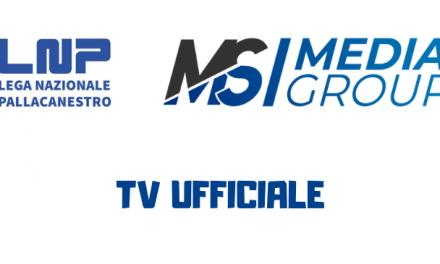 Domenica alle 17 Forlì-Eurobasket Roma sarà sui canali di Mediasport Group