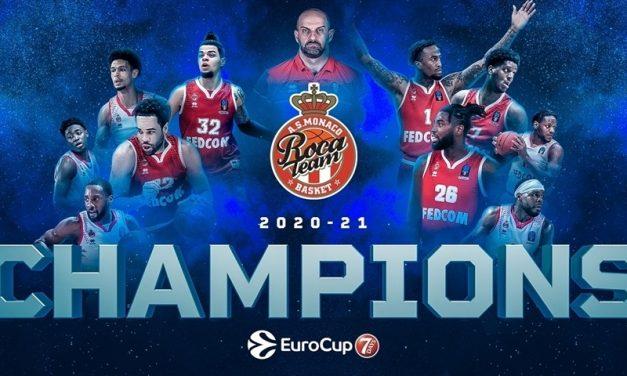 Il Monaco batte l'Unics Kazan in Russia 83-86 e si aggiudica l'Eurocup