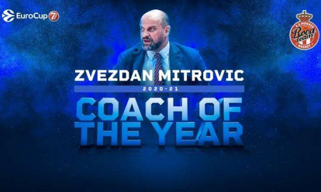 Zvezdan Mitrovic del Monaco nominato coach dell'anno in Eurocup