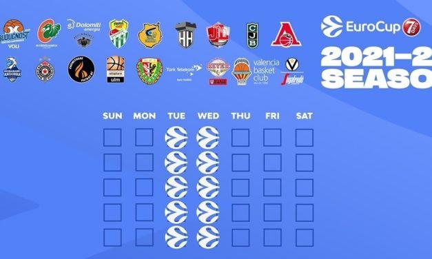 Eurocup, svelato il calendario della competizione